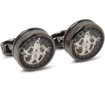 Tourbillon Gear Gunmetal-plated Cufflinks
