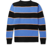 Striped Cashmere Sweater - Blue