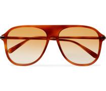 Aviator-style Acetate Sunglasses - Light brown