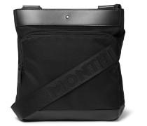 Nightflight Leather-trimmed Nylon Messenger Bag - Black