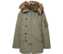 Faux Fur-trimmed Cotton-blend Hooded Down Parka