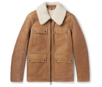 Upland Slim-fit Shearling Jacket - Tan