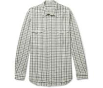 Checked Crepe Shirt
