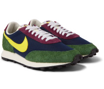 Daybreak Gel Leather-Trimmed Suede and Canvas Sneakers