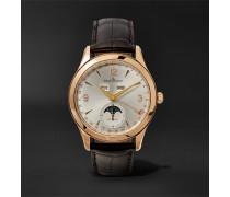 Master Calendar 18-karat Rose Gold And Alligator Watch - Silver