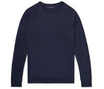 Destination Pima Cotton-jersey T-shirt - Midnight blue