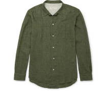 Piped Washed-linen Shirt