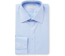 + Turnbull & Asser Blue Herringbone Cotton Shirt