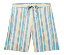 Slim-Fit Striped Cotton Drawstring Shorts