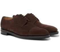 Cap-Toe Suede Derby Shoes