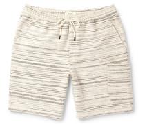 Textured-cotton Drawstring Shorts
