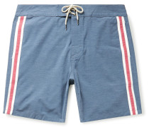 Retro Surf Mid-Length Striped Swim Shorts