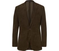 Green Ludlow Slim-fit Cotton-corduroy Blazer