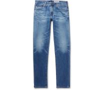 Tellis Slim-fit Stretch-denim Jeans - Mid denim