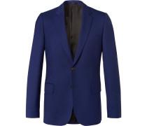 Blue Soho Travel Slim-fit Wool-twill Suit Jacket