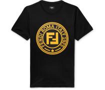 Logo-print Cotton-jersey T-shirt - Black