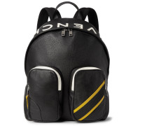 Mc3 Appliquéd Full-grain Leather Backpack - Black