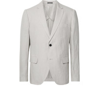 Grant Light-Grey Slim-Fit Linen Suit Jacket
