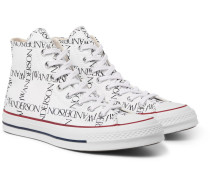 + Jw Anderson 1970s Chuck Taylor All Star Logo-printed Canvas High-top Sneakers