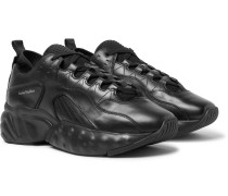 Rockaway Leather Sneakers - Black