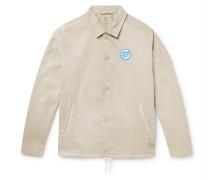 Logo-Appliquéd Organic Cotton-Twill Jacket