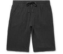 Mélange Loopback Supima Cotton-Jersey Drawstring Shorts