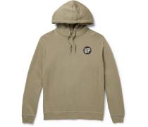 Printed Loopback Organic Cotton-Blend Jersey Hoodie