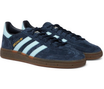 Handball Spezial Leather-trimmed Suede Sneakers - Navy