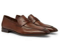 Lorenzo Leather Loafers - Brown