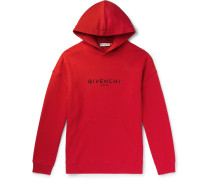 Logo-Print Loopback Cotton-Jersey Hoodie