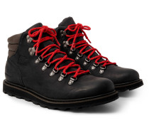 Madson Hiker Waterproof Leather And Rubber-trimmed Nubuck Boots - Black