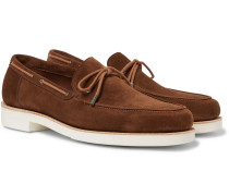 Byrne Suede Loafers - Chocolate