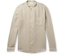 Pat Grandad-Collar Linen Shirt