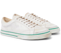 Match Tennis Distressed Leather Sneakers