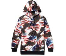 Printed Fleece-Back Cotton-Jersey Hoodie