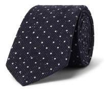 8cm Polka-Dot Silk and Virgin Wool-Blend Tie