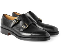 William Leather Monk-strap Shoes - Black