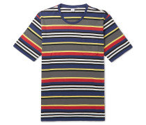 Slim-fit Striped Cotton-jersey T-shirt - Multi