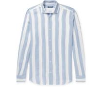 Striped Linen Shirt - Blue