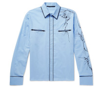 Embroidered Cotton Western Shirt
