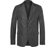Grey Slim-fit Unstructured Shell Blazer
