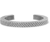 Logo-engraved Silver-tone Cuff - Silver