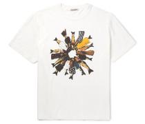 Box Printed Cotton-Jersey T-Shirt