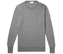 Mélange Cashmere Sweater - Gray