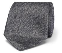 8cm Mélange Herringbone Silk Tie