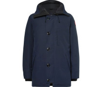 Chateau Shell Hooded Down Parka - Blue