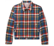 Checked Wool-blend Blouson Jacket