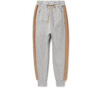 Striped Loopback Cotton-jersey Sweatpants