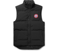 Garson Slim-fit Quilted Shell Down Gilet - Black
