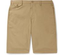 Slim-Fit Cotton-Blend Poplin Bermuda Shorts